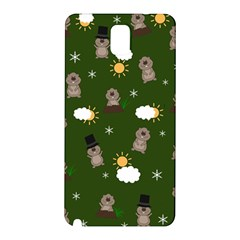 Groundhog Day Pattern Samsung Galaxy Note 3 N9005 Hardshell Back Case by Valentinaart