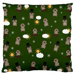 Groundhog Day Pattern Standard Flano Cushion Case (one Side) by Valentinaart