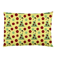Green Dress Yellow Pillow Case by snowwhitegirl