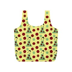 Green Dress Yellow Full Print Recycle Bags (s)  by snowwhitegirl