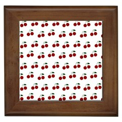 Cherries Framed Tiles