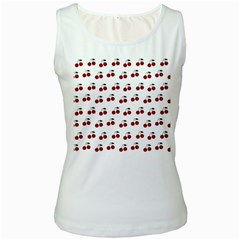 Cherries Women s White Tank Top