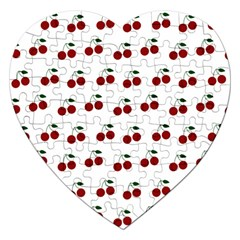 Cherries Jigsaw Puzzle (heart) by snowwhitegirl