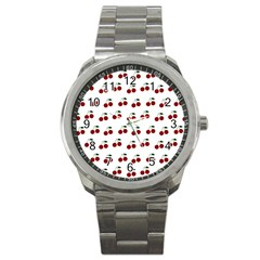 Cherries Sport Metal Watch by snowwhitegirl