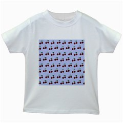 Blue Cherries Kids White T-shirts