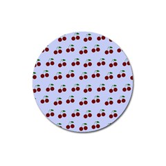 Blue Cherries Magnet 3  (round)