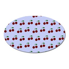 Blue Cherries Oval Magnet