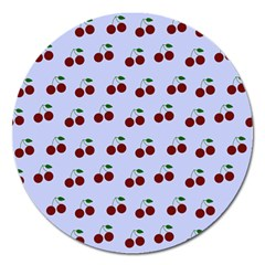 Blue Cherries Magnet 5  (round)