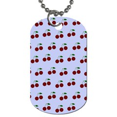 Blue Cherries Dog Tag (one Side)