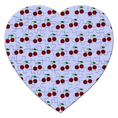 Blue Cherries Jigsaw Puzzle (heart)