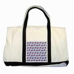 Blue Cherries Two Tone Tote Bag