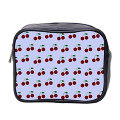 Blue Cherries Mini Toiletries Bag 2-side