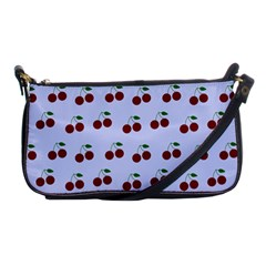 Blue Cherries Shoulder Clutch Bags