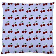 Blue Cherries Large Cushion Case (two Sides) by snowwhitegirl