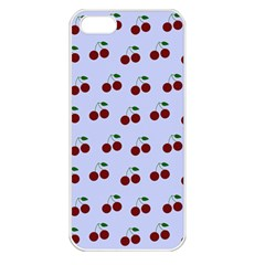 Blue Cherries Apple Iphone 5 Seamless Case (white) by snowwhitegirl