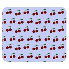 Blue Cherries Double Sided Flano Blanket (small)  by snowwhitegirl