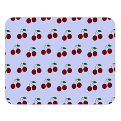 Blue Cherries Double Sided Flano Blanket (large)  by snowwhitegirl