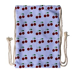 Blue Cherries Drawstring Bag (large)