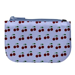 Blue Cherries Large Coin Purse