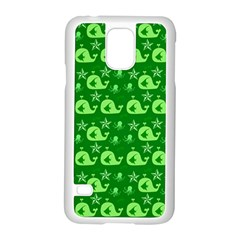 Green Sea Whales Samsung Galaxy S5 Case (white)