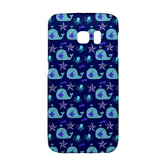 Blue Sea Whales Galaxy S6 Edge by snowwhitegirl