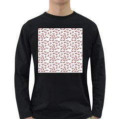 Red Cherries Long Sleeve Dark T-shirts