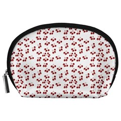 Red Cherries Accessory Pouches (large)  by snowwhitegirl