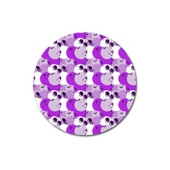 Purple Cherry Dots Magnet 3  (round) by snowwhitegirl