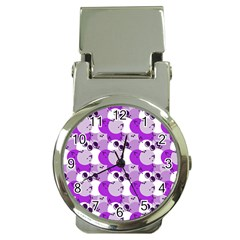 Purple Cherry Dots Money Clip Watches by snowwhitegirl