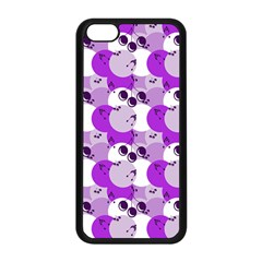 Purple Cherry Dots Apple Iphone 5c Seamless Case (black)