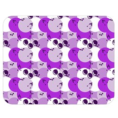 Purple Cherry Dots Double Sided Flano Blanket (medium)