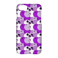 Purple Cherry Dots Apple Iphone 7 Hardshell Case by snowwhitegirl