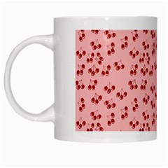 Rose Cherries White Mugs