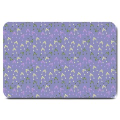 Winter Hats Blue Large Doormat  by snowwhitegirl