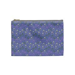 Winter Hats Blue Cosmetic Bag (medium)