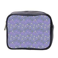 Winter Hats Blue Mini Toiletries Bag 2-side