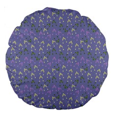 Winter Hats Blue Large 18  Premium Round Cushions