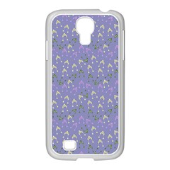 Winter Hats Blue Samsung Galaxy S4 I9500/ I9505 Case (white)