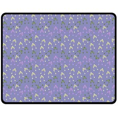 Winter Hats Blue Double Sided Fleece Blanket (medium)  by snowwhitegirl