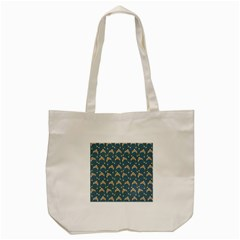 Teal Beige Hats Tote Bag (cream)