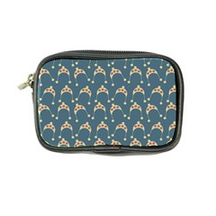 Teal Beige Hats Coin Purse