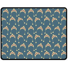 Teal Beige Hats Fleece Blanket (medium)  by snowwhitegirl