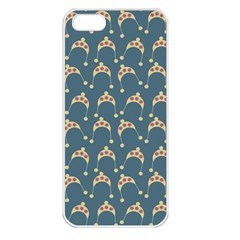 Teal Beige Hats Apple Iphone 5 Seamless Case (white)