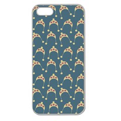 Teal Beige Hats Apple Seamless Iphone 5 Case (clear)