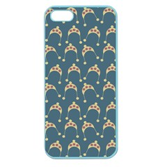 Teal Beige Hats Apple Seamless Iphone 5 Case (color)
