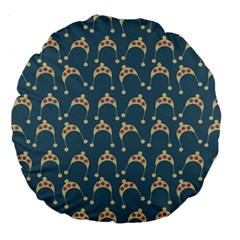 Teal Beige Hats Large 18  Premium Round Cushions