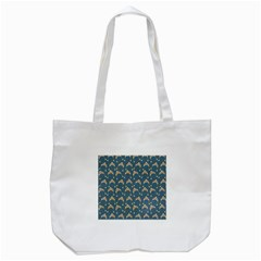 Teal Beige Hats Tote Bag (white)