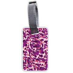 Pink Camo Luggage Tags (two Sides) by snowwhitegirl