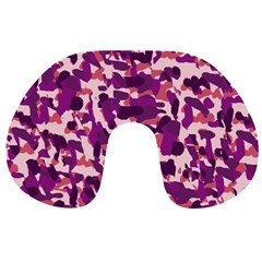 Pink Camo Travel Neck Pillows by snowwhitegirl