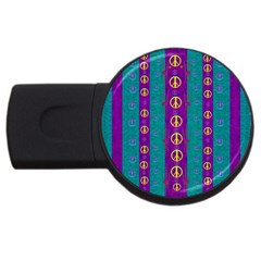 Peace Be With Us This Wonderful Year In True Love Usb Flash Drive Round (4 Gb) by pepitasart